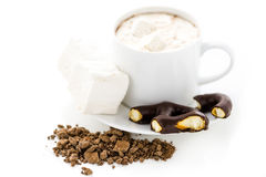Sipping chocolate Stock Photos