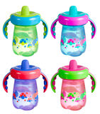 Sippy Cup Isolated Set Stock Photography