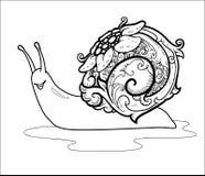 SIPUT-PRYDNADVEKTOR SELOK AWARAWAR royaltyfri illustrationer