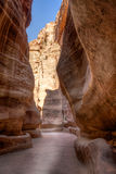 Siq, the canyon Stock Photography