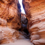 Siq canyon in Petra City Stock Image