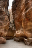 Siq canyon in Petra, Jordan Royalty Free Stock Photography