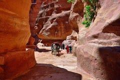 Siq canyon in Petra Stock Photos