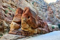 Siq canyon, Petra, Jordan Stock Photos