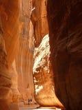 siq de PETRA de la Jordanie Images libres de droits
