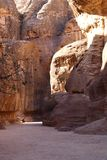 The Siq Gorge at Petra Royalty Free Stock Photos