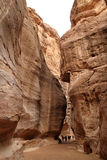 The siq of Petra Royalty Free Stock Photos