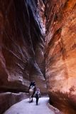 The siq - petra Stock Photo
