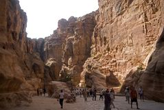 The Siq, Petra, Jordan Royalty Free Stock Image