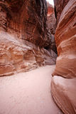 The Siq in Petra, Jordan Royalty Free Stock Photography