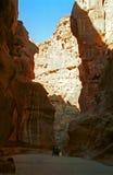 Siq, Petra, Jordan Stock Image