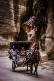 Siq at Petra, Jordan Stock Photos