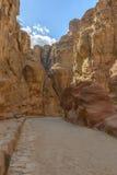 The Siq in Petra, Jordan Royalty Free Stock Photo