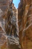 The Siq in Petra, Jordan Stock Images