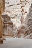 The Siq in Petra, Jordan royalty free stock photo