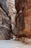 The Siq in Petra, Jordan royalty free stock images