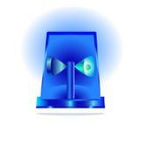 Sirène bleue d'isolement Photo stock
