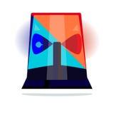 Sirène bleue et rouge simple Photographie stock