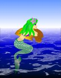 Sirène dans l'eau Photo stock