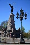 Sirène de cuirassé de monument à Tallinn Photos libres de droits