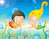 Sirène de mer profonde Images libres de droits