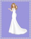 Sirène de robe de jeune mariée Image libre de droits