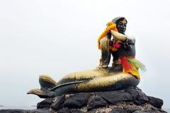 Sirène en bronze photo libre de droits