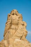 Sirènes, sculpture en sable Photo stock