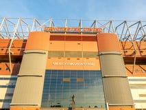 Sir Alex Ferguson stand in Old Trafford stadium Stock Image