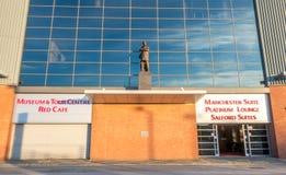 Sir Alex Ferguson statue in Old Trafford stadium Stock Images