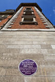 Sir Alexander Fleming Plaque på Sts Mary sjukhus i London Royaltyfri Foto