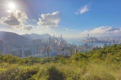 Sir Cecil's Ride view of hong kong Royalty Free Stock Images