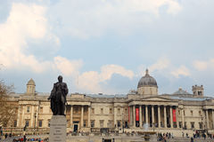 Sir Charles James Napier statue in Trafalgar Square Royalty Free Stock Photography