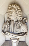 Sir Christopher Wren Sculpture i London Royaltyfri Bild