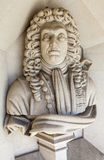 Sir Christopher Wren Sculpture in London Royalty Free Stock Images