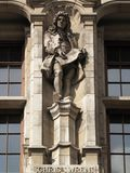 Sir Christopher Wren statue Royalty Free Stock Photography