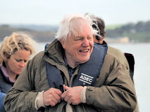 Sir David Attenborough With Local Lyme Regis Firemen Royalty Free Stock Image
