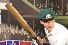 Sir Donald Bradman. Photo taken at Madam Tussads in Sydney in January 2014 Royalty Free Stock Images