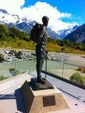 Sir Edmund Hillary przegląda Aoraki, góra Cook Obraz Stock