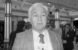 Sir Fergus Montgomery. Conservative party Member of Parliament for Altrincham & Sale, visits the party conference in Blackpool on October 10, 1989 Stock Photography