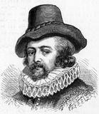 Sir Francis Bacon, English philosopher and statesman. Sir Francis Bacon, 1st Viscount St. Alban,Peltonen 1561 -1626 English philosopher and statesman, engraving Stock Photo