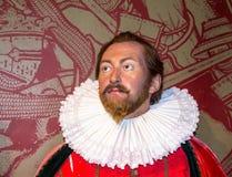 Sir Francis Drake wax figure  at Madame Tussauds Wax Museum. London Royalty Free Stock Image