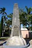 Sir George Somers Memorial Bermuda Arkivfoton