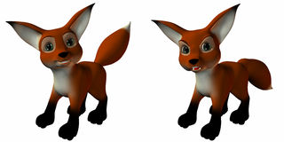 Sir Guy the Fox. 3 D Computer Render of an Toonimal Fox Royalty Free Stock Photo