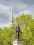 Sir Henry Havelock statua przy Trafalgar kwadratem w Londyn zdjęcia stock
