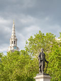 Sir Henry Havelock statue at Trafalgar square in London Royalty Free Stock Images