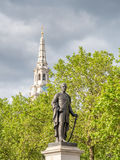Sir Henry Havelock statue at Trafalgar square in London stock photos