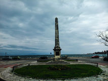 Sir Howard Douglas-Obelisk in Korfu-Insel Griechenland lizenzfreies stockbild
