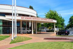 Sir Howard Morrison Performing Arts Centre i Rotorua, Nya Zeeland royaltyfri foto