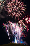 Sir John Barrow Monument Fireworks Royalty Free Stock Image